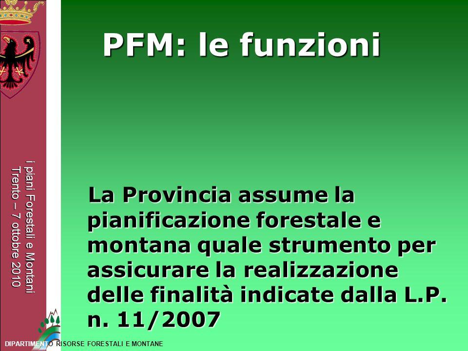 PFM: le funzioni