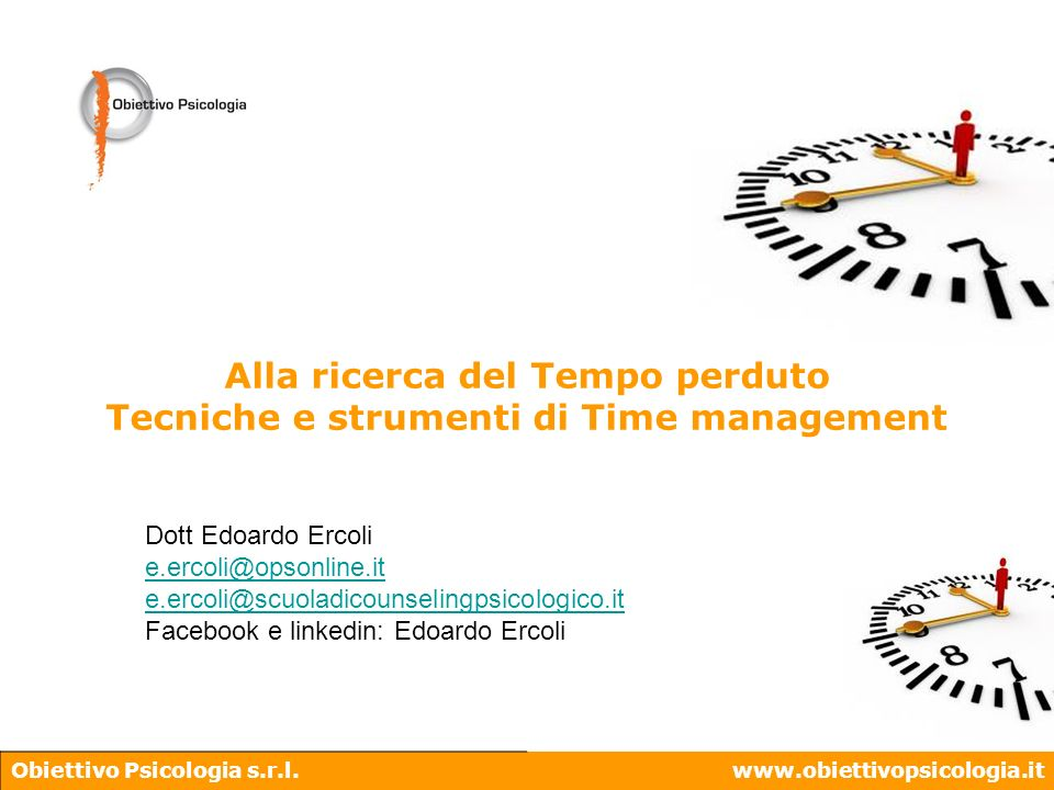 Tecniche e strumenti di Time management