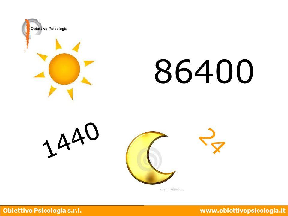 86400 1440 24 Obiettivo Psicologia s.r.l. www.obiettivopsicologia.it