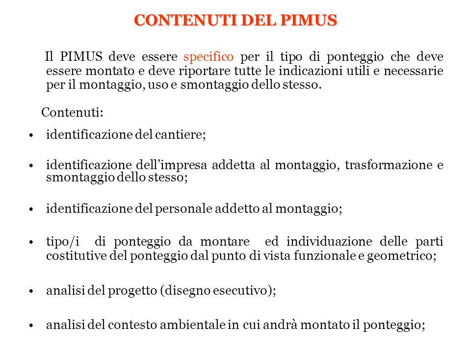 CONTENUTI DEL PIMUS