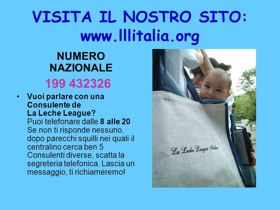 VISITA IL NOSTRO SITO: www.lllitalia.org