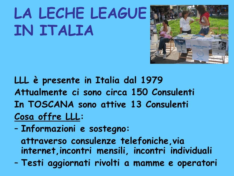 LA LECHE LEAGUE IN ITALIA