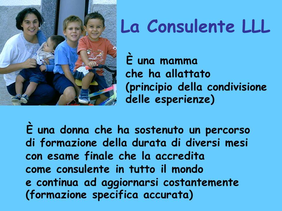 La Consulente LLL È una mamma che ha allattato (principio della condivisione delle esperienze)