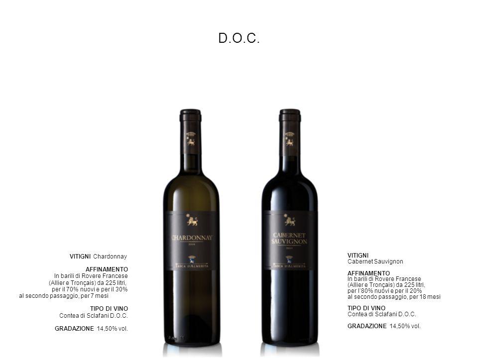 D.O.C. VITIGNI Chardonnay AFFINAMENTO In barili di Rovere Francese