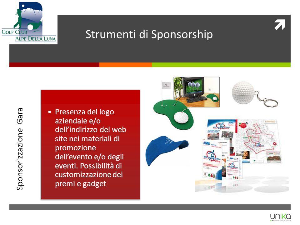 Strumenti di Sponsorship