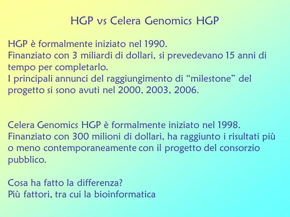 HGP vs Celera Genomics HGP