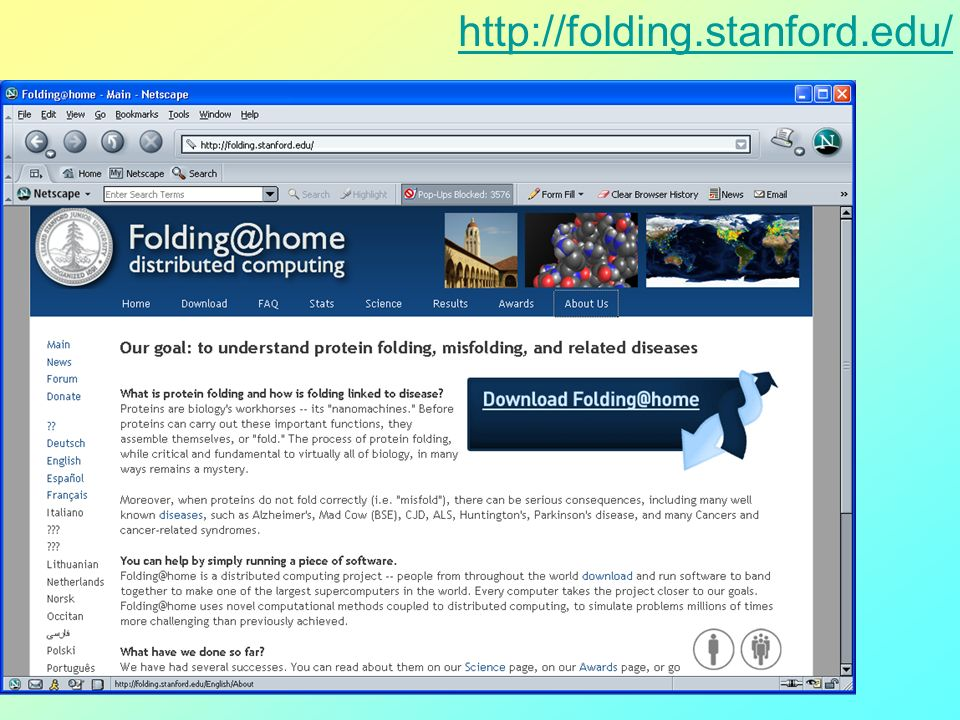 http://folding.stanford.edu/