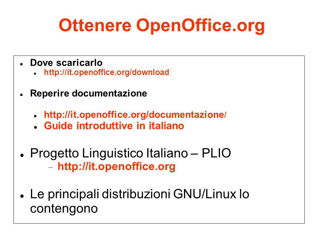 Ottenere OpenOffice.org