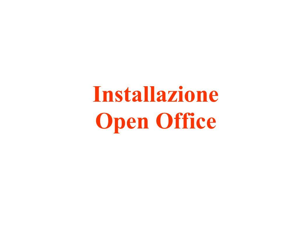 Installazione Open Office