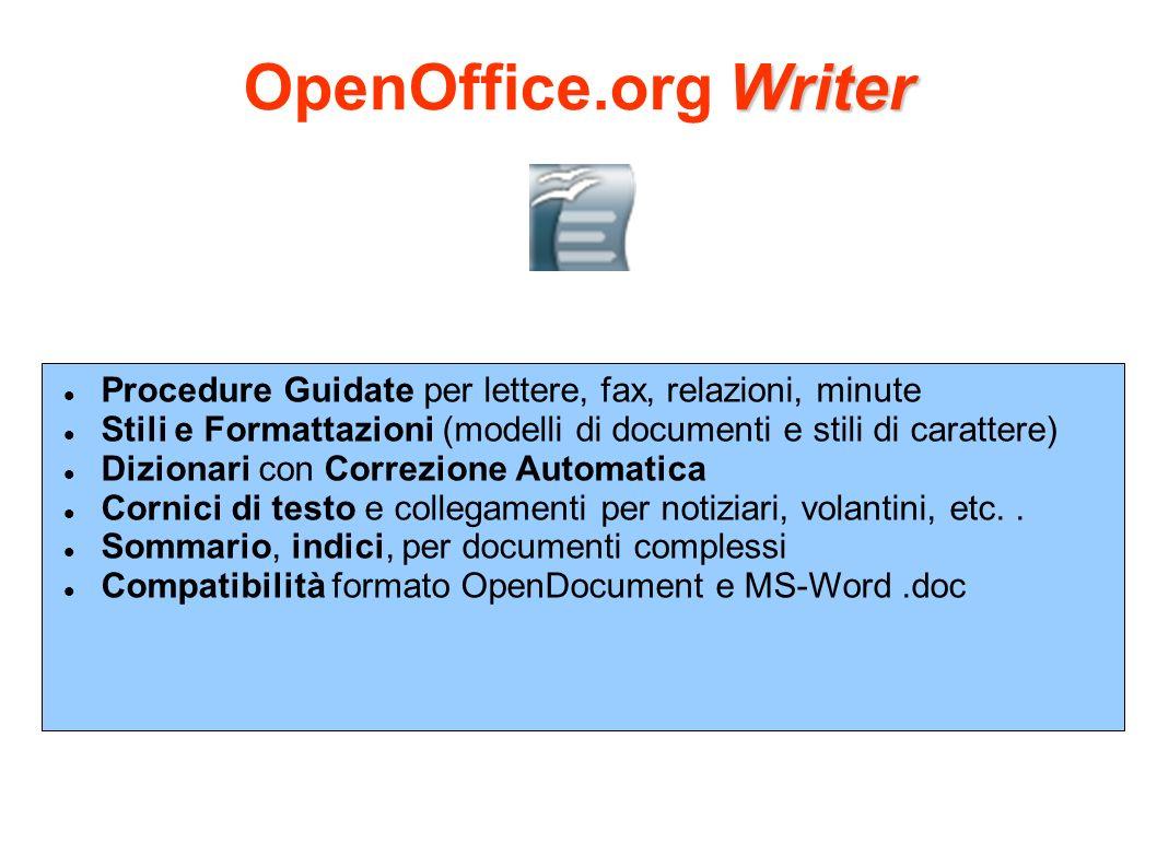 OpenOffice.org Writer Procedure Guidate per lettere, fax, relazioni, minute. Stili e Formattazioni (modelli di documenti e stili di carattere)