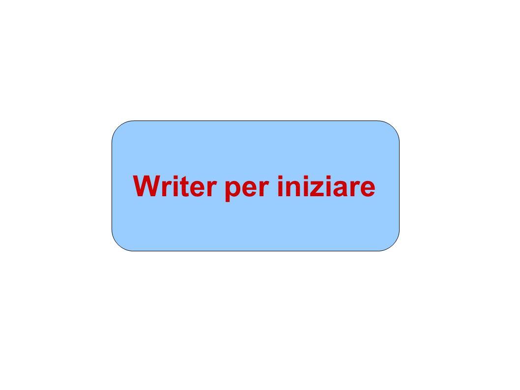 Writer per iniziare Presentazione 1