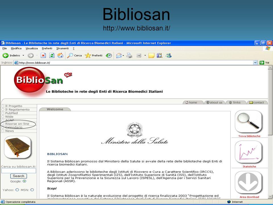 Bibliosan http://www.bibliosan.it/