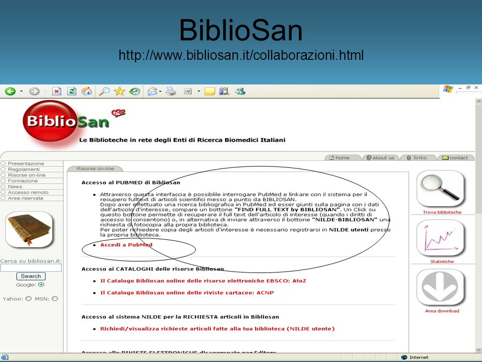 BiblioSan http://www.bibliosan.it/collaborazioni.html