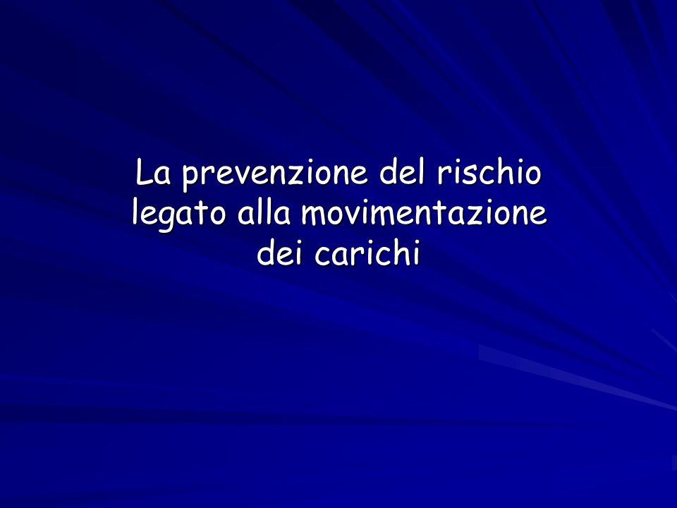 La prevenzione del rischio legato alla movimentazione dei carichi