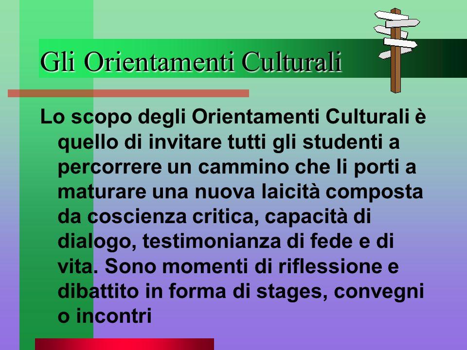 Gli Orientamenti Culturali