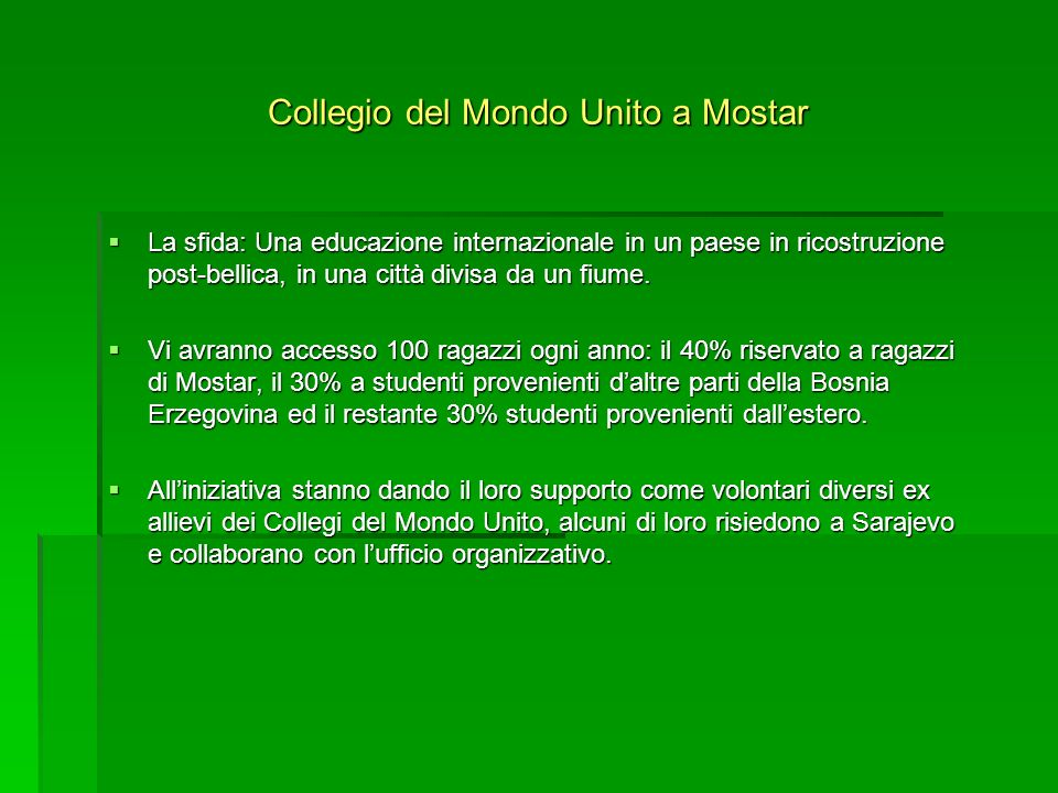 Collegio del Mondo Unito a Mostar