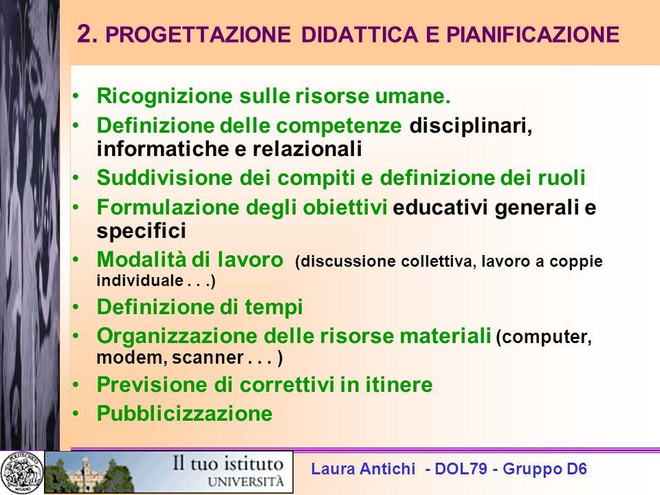 2. PROGETTAZIONE DIDATTICA E PIANIFICAZIONE