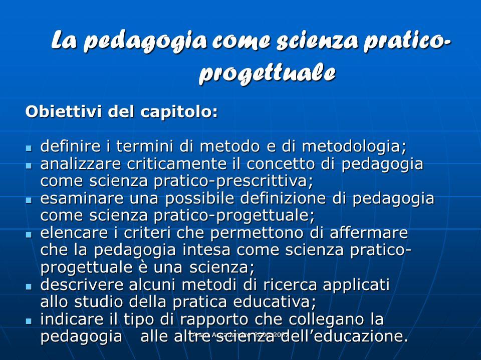 La pedagogia come scienza pratico-progettuale