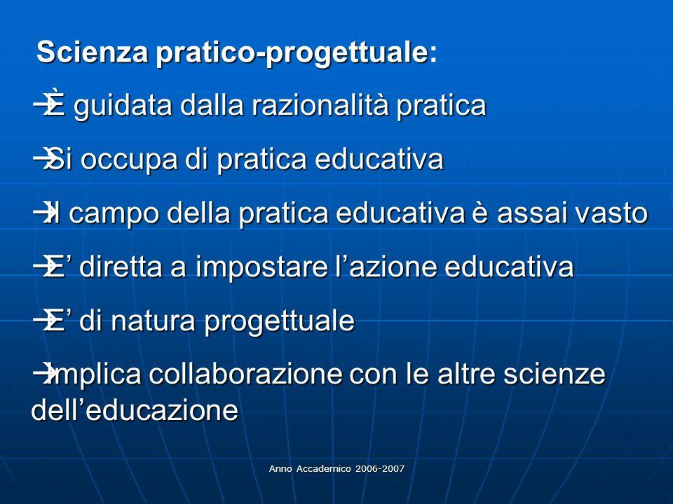 Scienza pratico-progettuale: