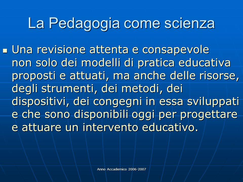 La Pedagogia come scienza