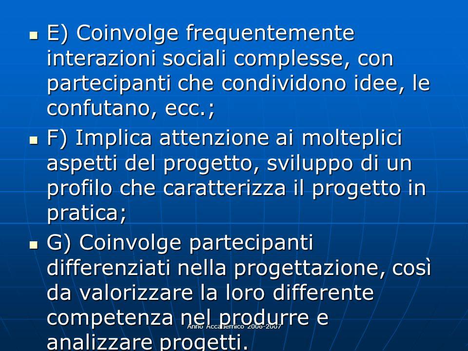 E) Coinvolge frequentemente interazioni sociali complesse, con partecipanti che condividono idee, le confutano, ecc.;