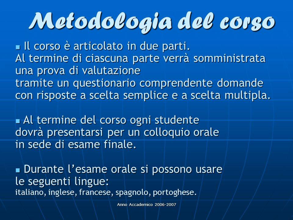 Metodologia del corso