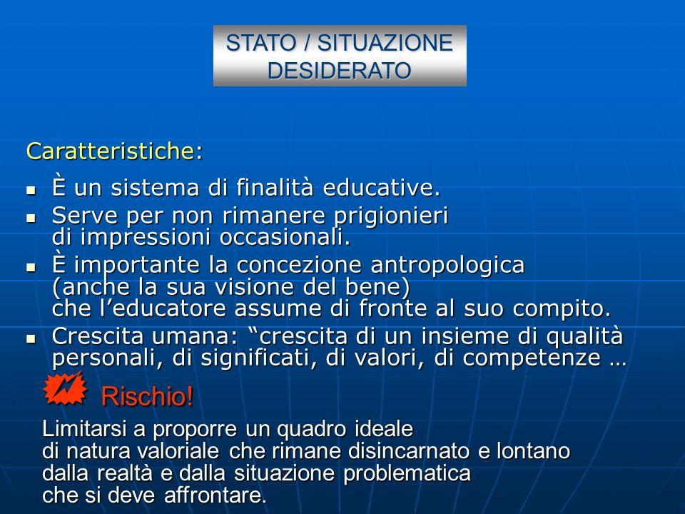 STATO / SITUAZIONE DESIDERATO