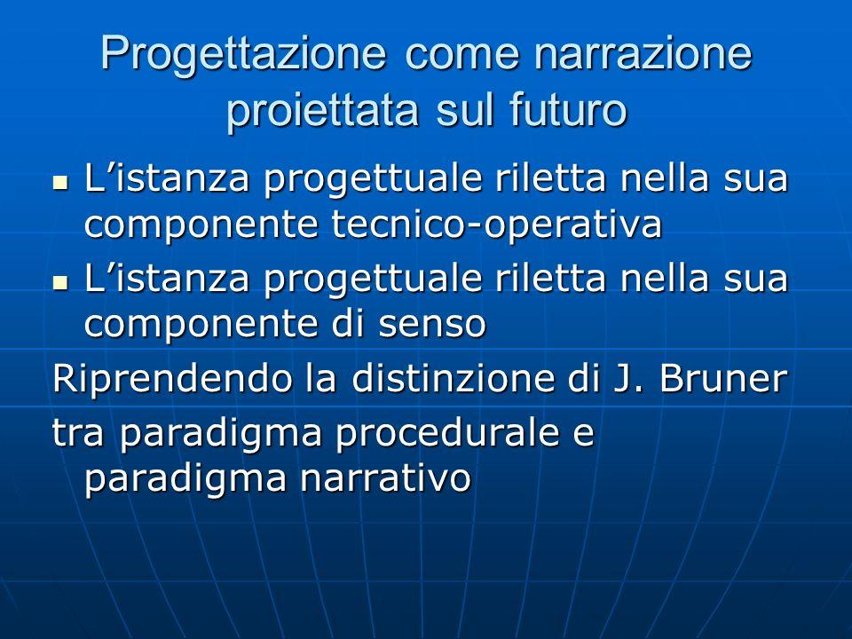 Progettazione come narrazione proiettata sul futuro