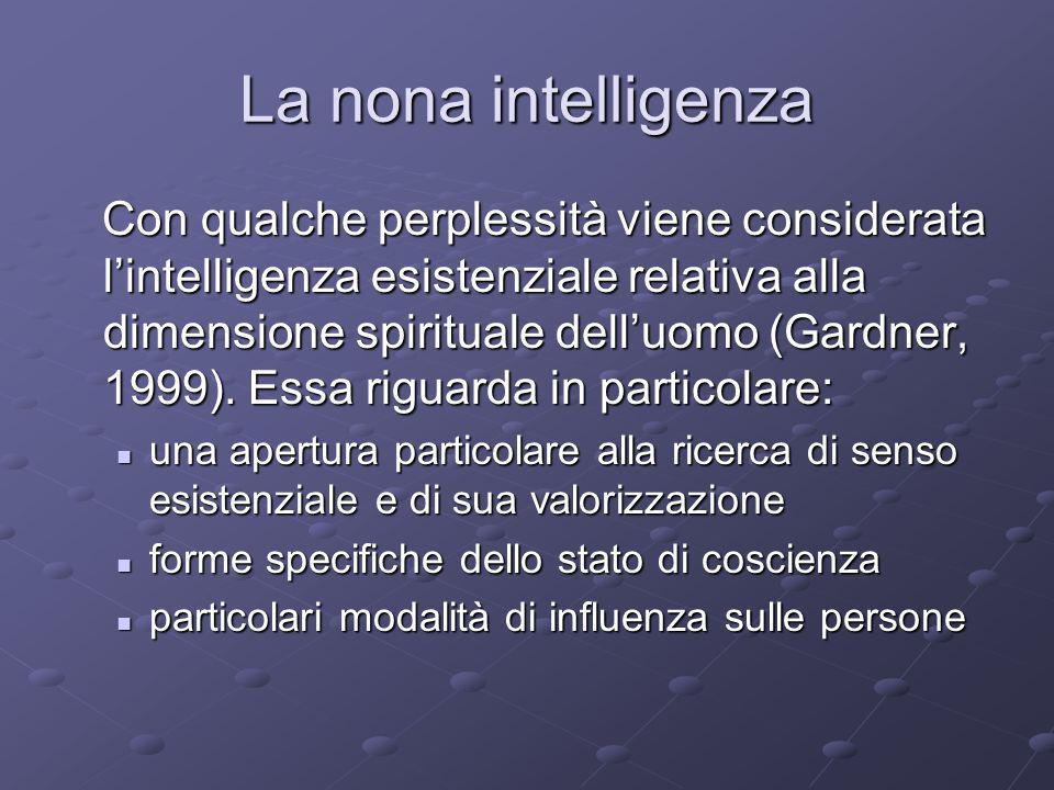 La nona intelligenza