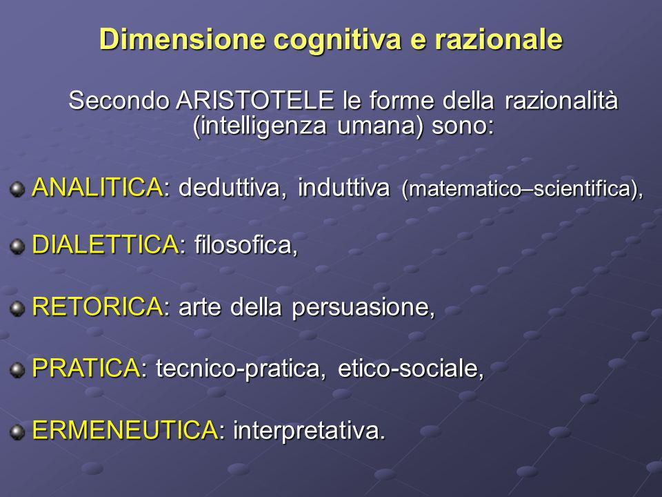 Dimensione cognitiva e razionale