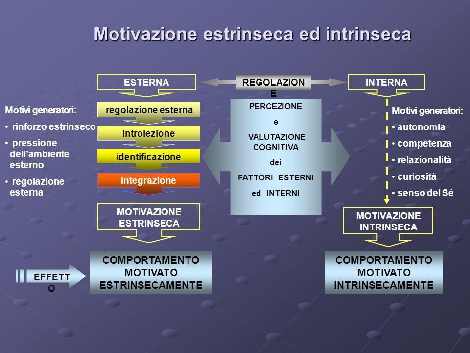 Motivazione estrinseca ed intrinseca