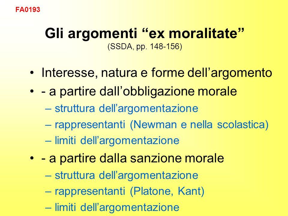 Gli argomenti ex moralitate