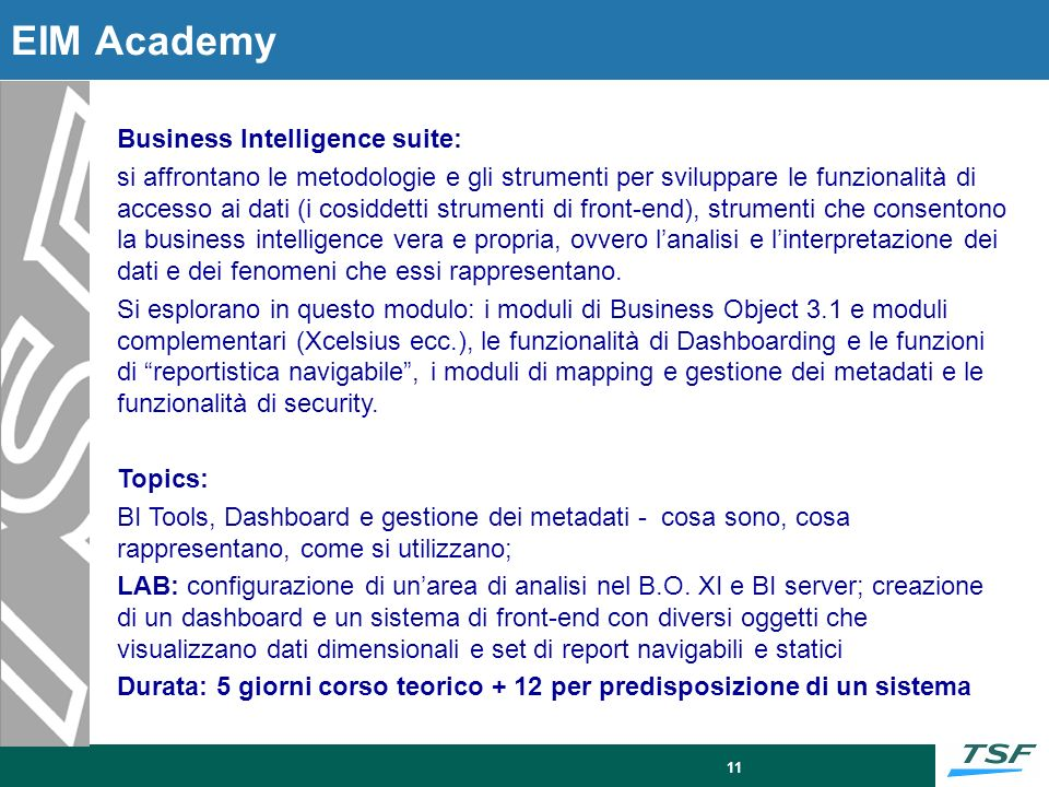 Business Intelligence Projects: