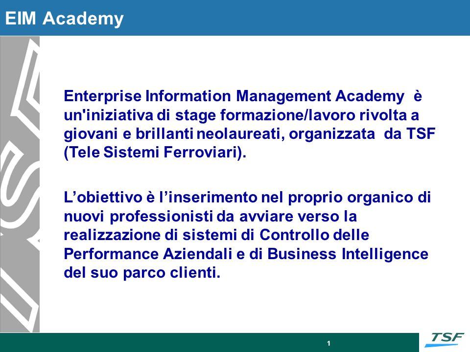 Overview 6 mesi di stage formazione/lavoro per neolaureati sul mondo della Business Intelligence ed Enterprise Information Management.