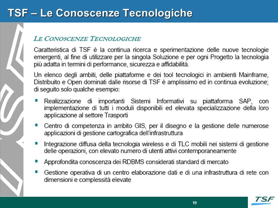 TSF – Centro competenza BI