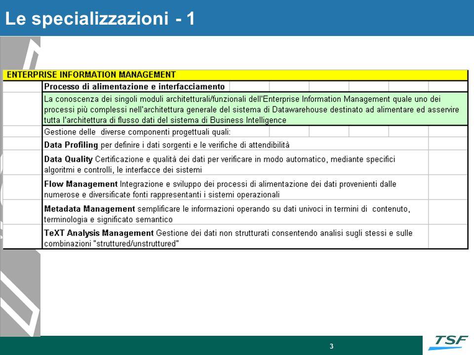 Le specializzazioni - 2