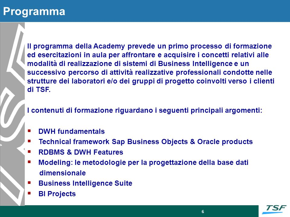 DWH Fondamentals DWH Fundamentals: