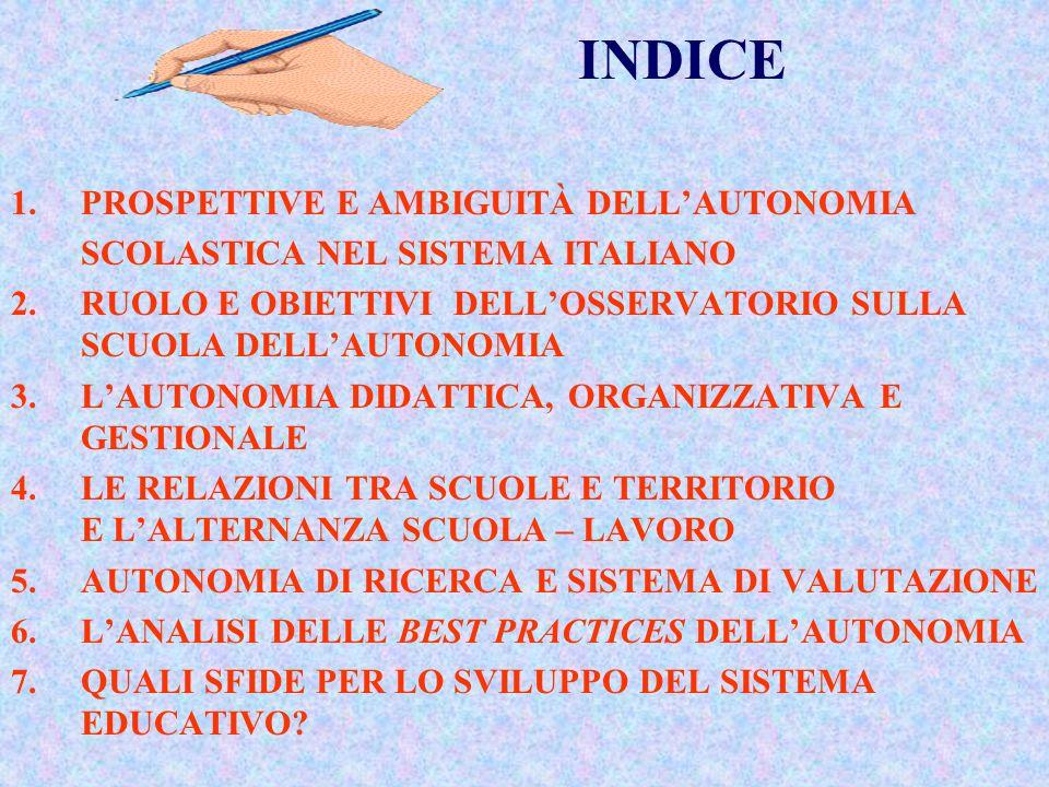 INDICE 1. PROSPETTIVE E AMBIGUITÀ DELL'AUTONOMIA