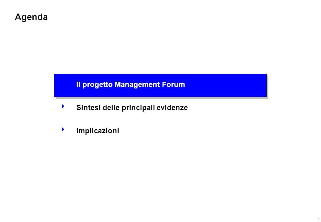 Progetto Management Forum: finalità