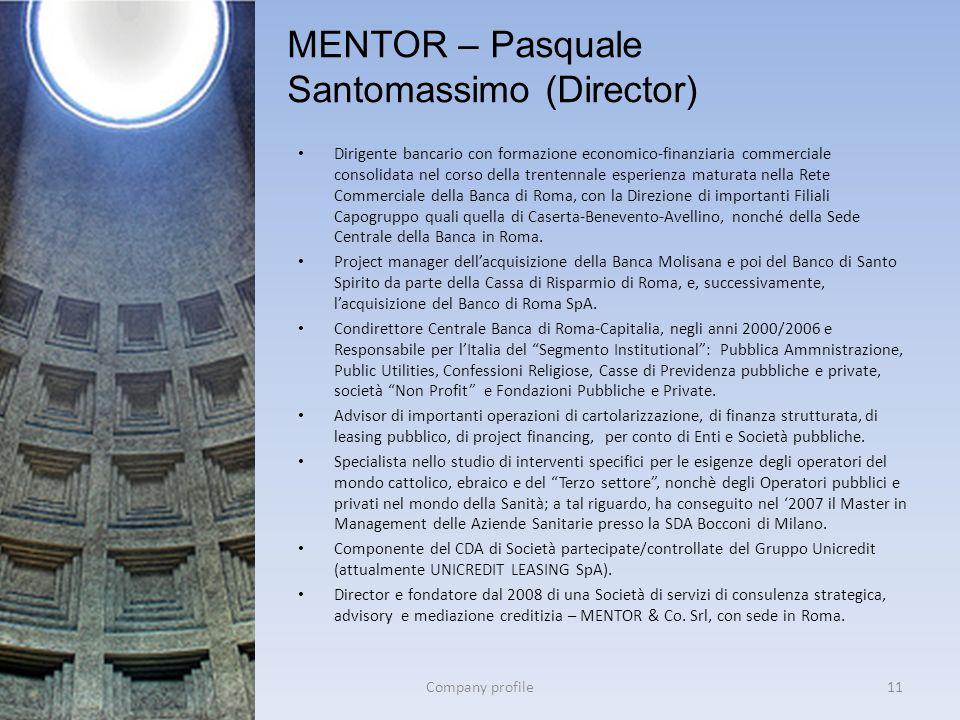 MENTOR – Pasquale Santomassimo (Director)