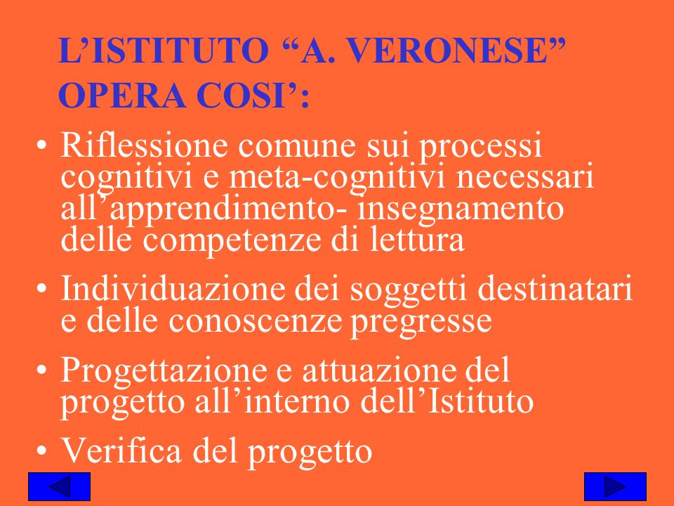 L'ISTITUTO A. VERONESE