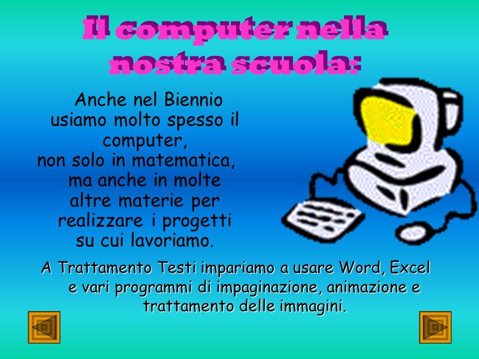 Il computer nella nostra scuola: