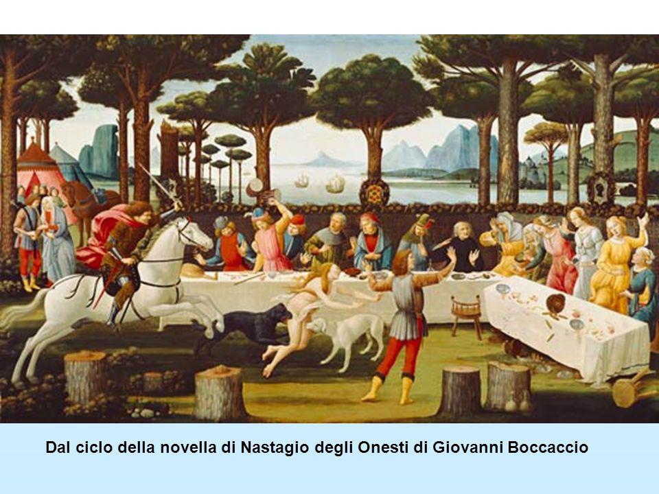 Dal ciclo della novella di Nastagio degli Onesti di Giovanni Boccaccio