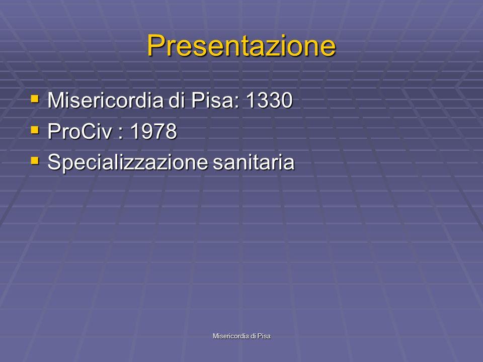 Presentazione Misericordia di Pisa: 1330 ProCiv : 1978