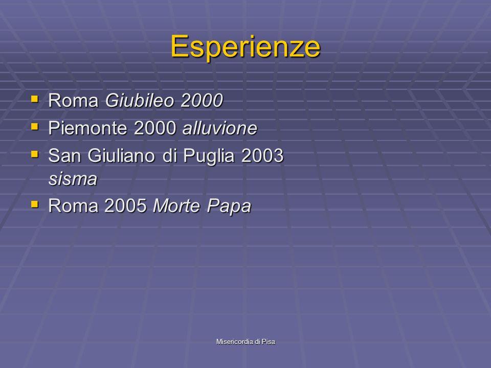Esperienze Roma Giubileo 2000 Piemonte 2000 alluvione