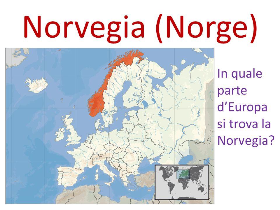 Norvegia (Norge) In quale parte d'Europa si trova la Norvegia