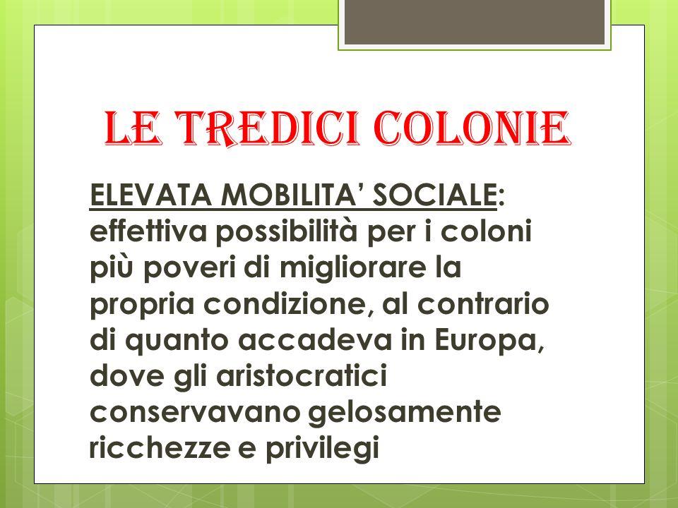 Le tredici colonie
