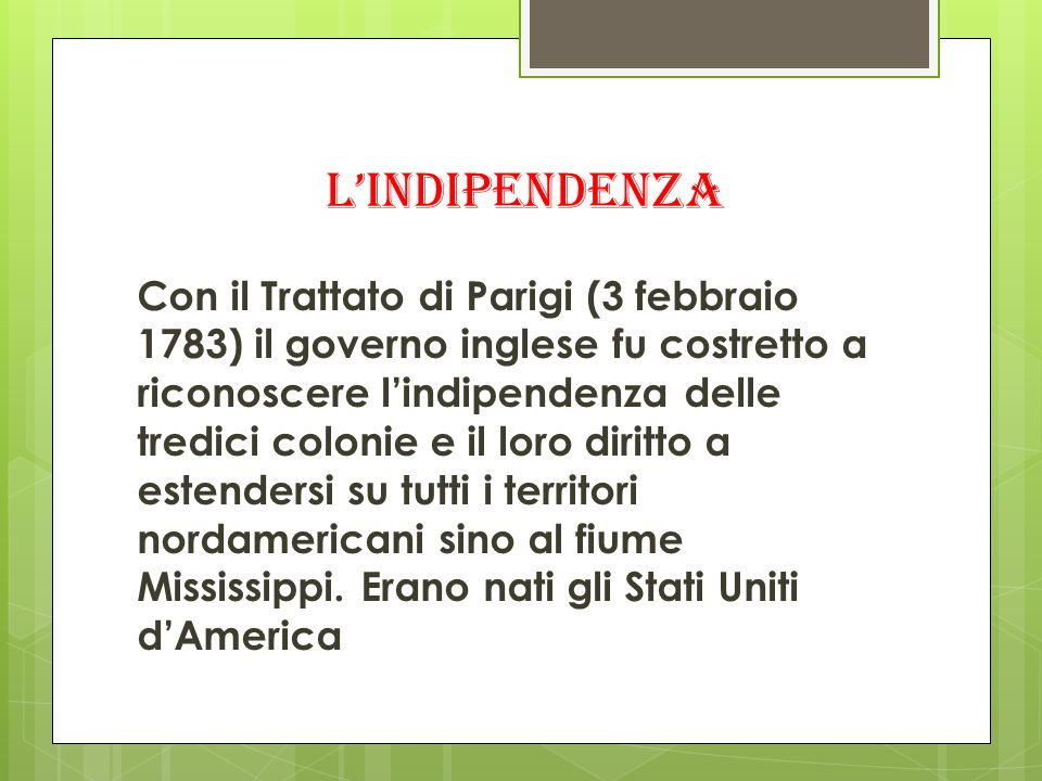 l'indipendenza