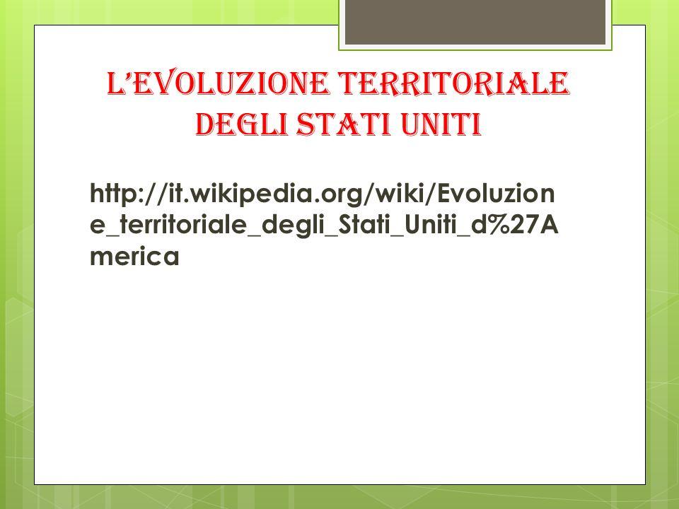 L'evoluzione territoriale degli Stati uniti