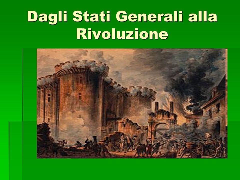 Dagli Stati Generali alla Rivoluzione
